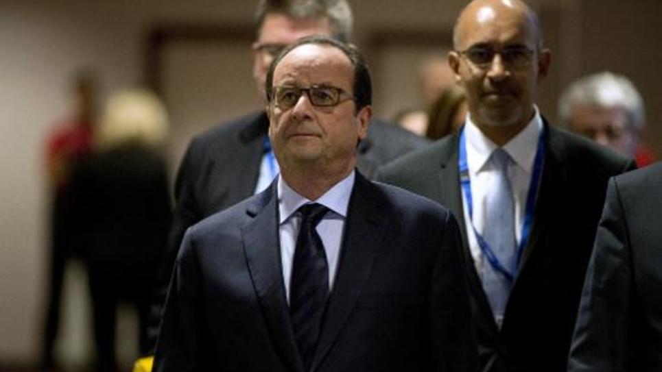 Le président François Hollande le 24 octobre 2014 à Bruxelles