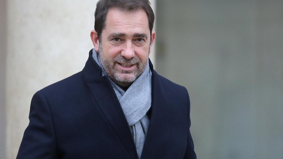 Christophe Castaner le 26 novembre 2018 à la sortie de l'Élysée