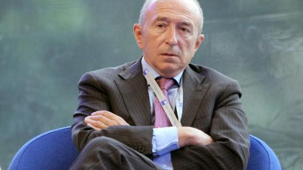 Le sénateur-maire socialiste de Lyon, Gérard Collomb, le 28 août 2014 lors d'une conférence du Medef à Jouy-en-Josas