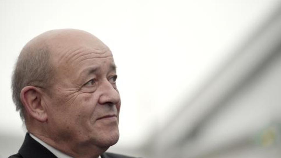 Le ministre de la Défense Jean-Yves Le Drian à Rennes le 19 décembre 2014