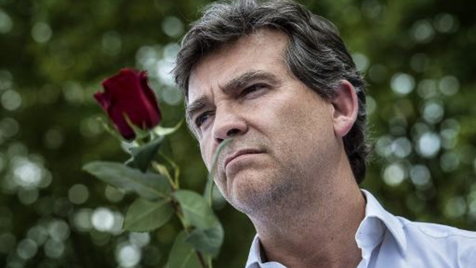 Le ministre de l'économie Arnaud Montebourg, le 24 août 2014 à la Fête de la Rose à Frangy-en-Bresse
