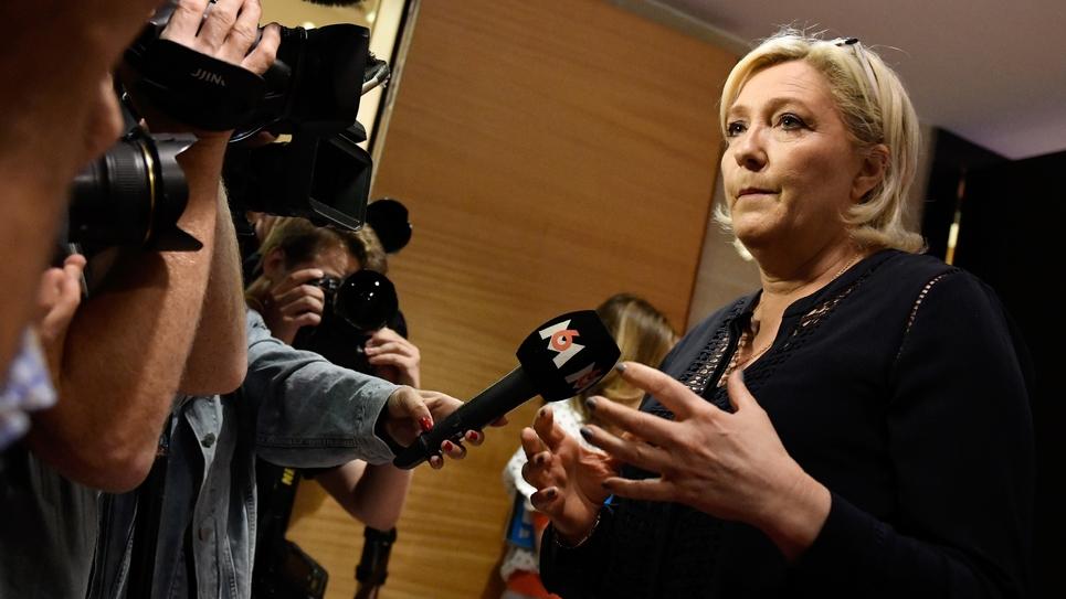 Marine Le Pen à Paris le 23 juillet 2018