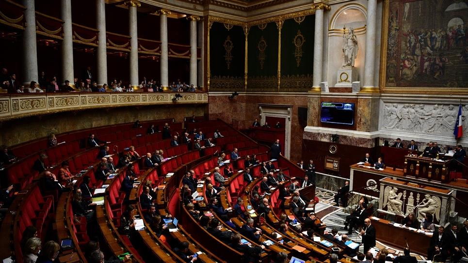Dans l'hémicycle de l'Assemblée nationale à Paris, le 17 décembre 2019