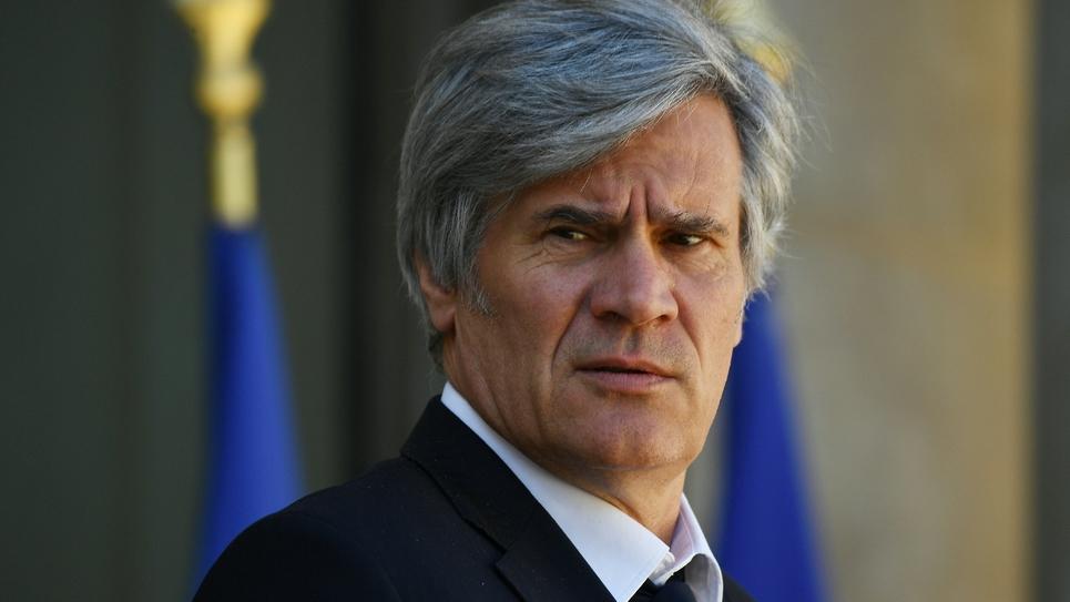 Le député PS de la Sarthe Stéphane Le Foll le 12 avril 2017 à l'Elysée à Paris