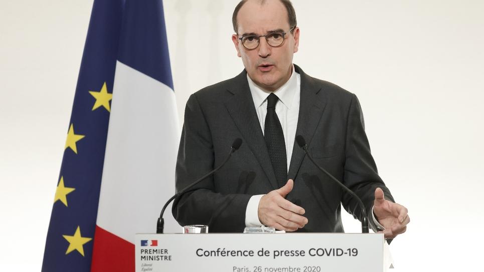 Conférence de presse de Jean Castex à Paris le 26 novembre 2020