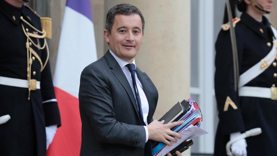 Le ministre des Comptes publics, Gérald Darmanin, à sa sortie de l'Elysée, le 6 mars 2019