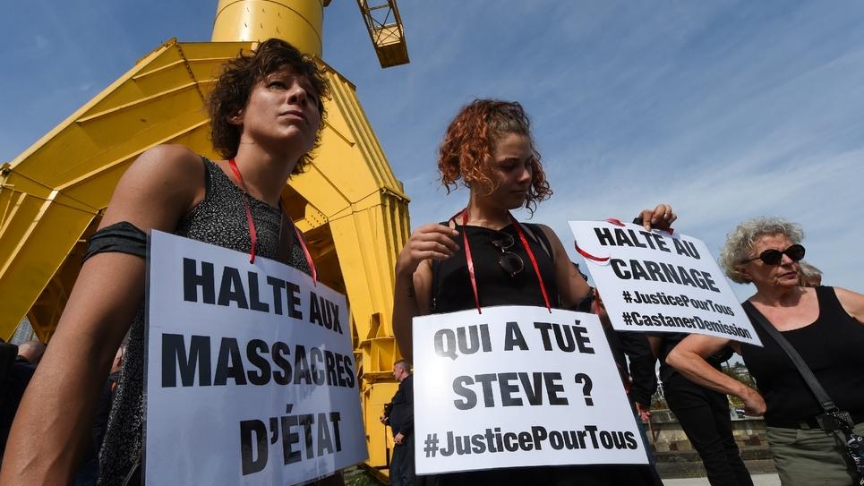 Manifestation à Nantes le 3 août 2019 en souvenir de Steve Maia Caniço