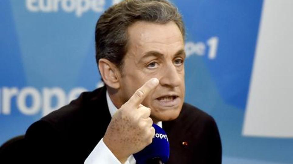Nicolas Sarkozy lors de son intervention sur Europe 1 le 19 février 2015 à Paris
