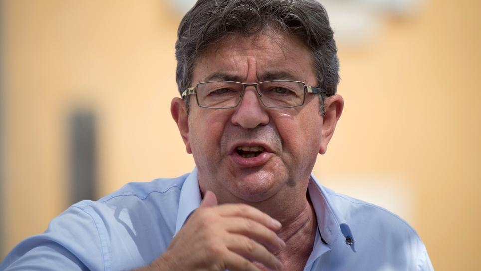 Le leader de la France Insoumise (LFI) Jean-Luc Mélenchon, le 27 août 2017 à Marseille