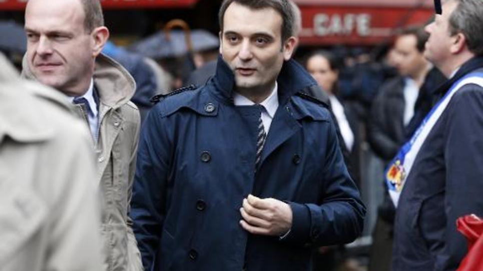 Le vice-président du Front National Florian Philippot, le 1er mai 2015 à Paris