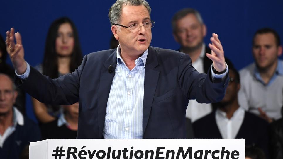 Le député du Finistère Richard Ferrand lors d'un meeting d'En Marche!, le 10 décembre à Paris