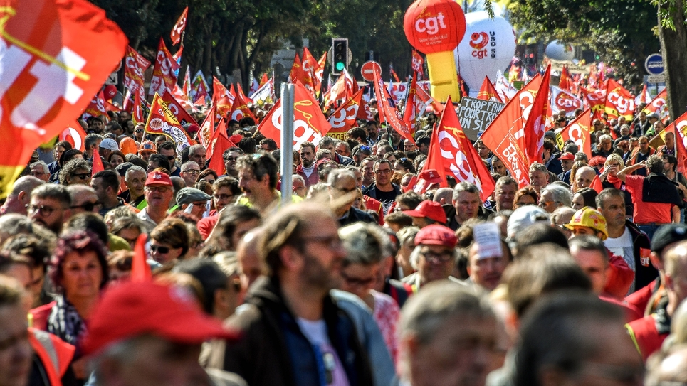 4d5ef56039d Des manifestants lors d une journée de manifestation contre la réforme du  code du Travail