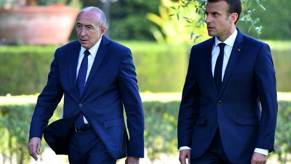 Emmanuel Macron et Gérard Collomb à Rome le 26 juin 2018
