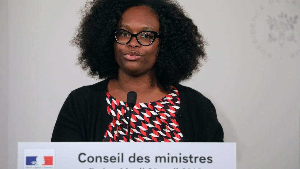La porte-parole du gouvernement Sibeth NDiaye après le conseil des ministres le 30 avril 2019