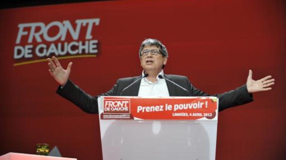 Le secrétaire national du Parti de Gauche (PG) Eric Coquerel, le 4 avril 2012 à Limoges