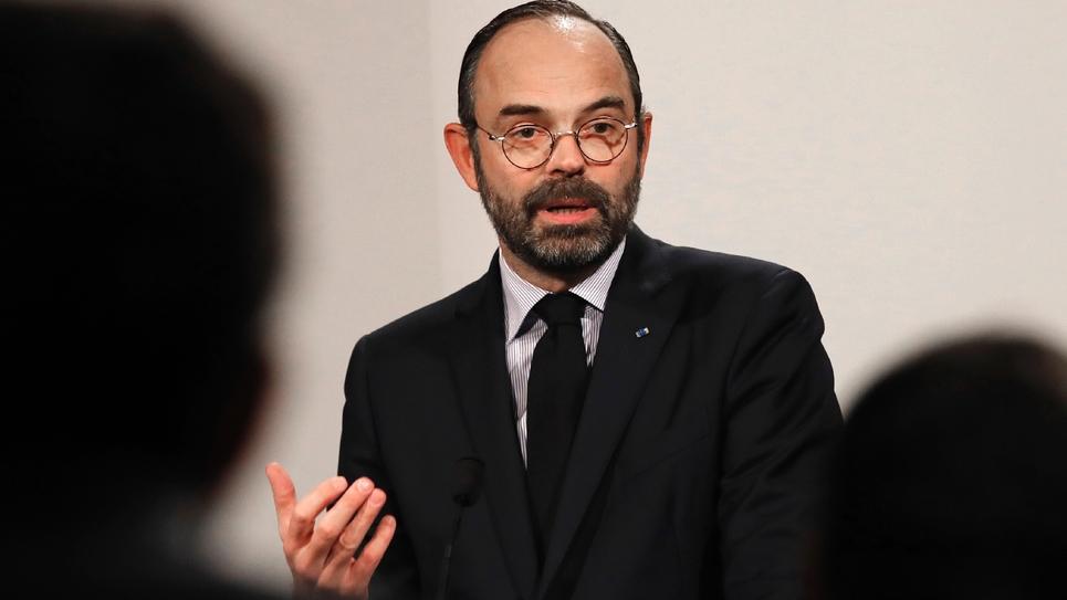 Le Premier ministre Edouard Philippe lors d'une conférence de presse à Paris, le 9 janvier 2019