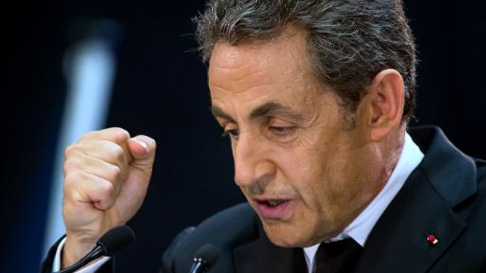 Nicolas Sarkozy lors d'un meeting le 25 septembre 2014 à Lambersart, dans le nord de la France