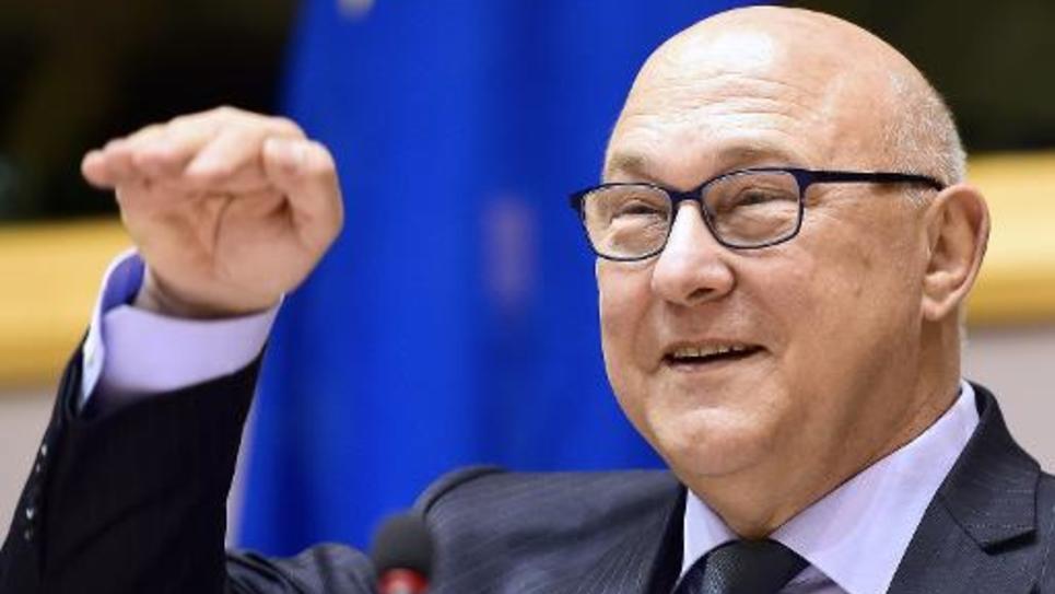 Le ministre des Finances Michel Sapin le 7 mai 2015 à Bruxelles