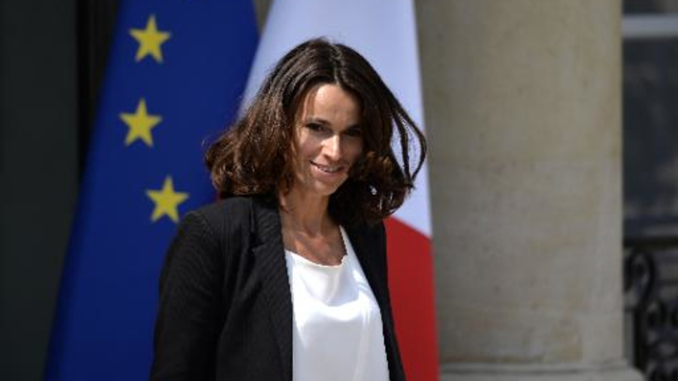 Aurélie Filippetti le 23 juillet 2014 à la sortie du Conseil des ministres à l'Elysée à Paris
