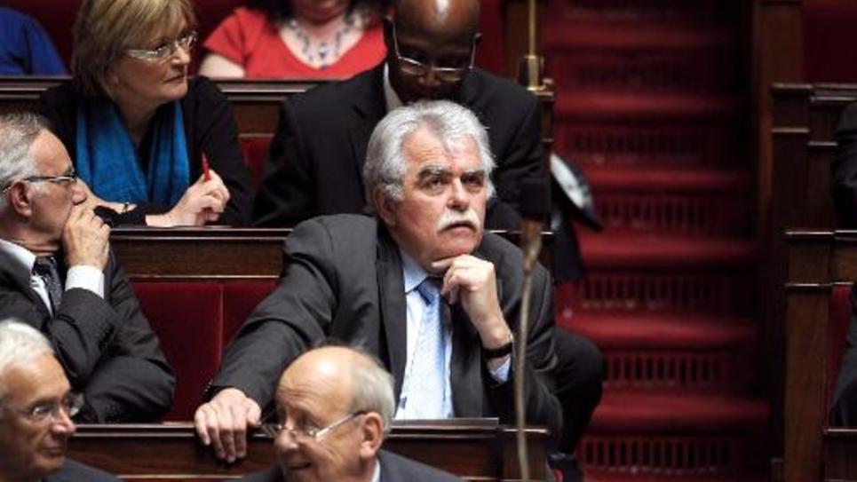 Le député communiste André Chassaigne lors d'une séance de questions au gouvernement, le 17 juin 2014 à l'Assemblée nationale