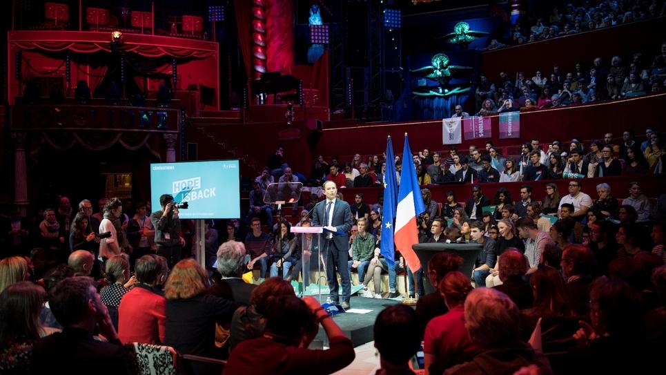 Benoît Hamon du mouvement Générations lors d'un meeting à Paris, le 6 décembre 2018