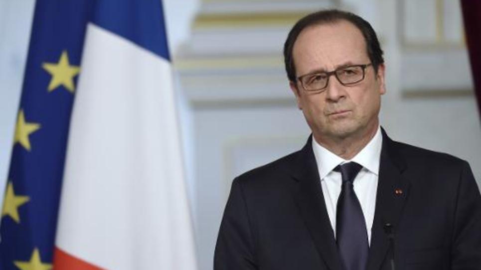 Le président Francois Hollande à l'Elysée le 2 mars 2015
