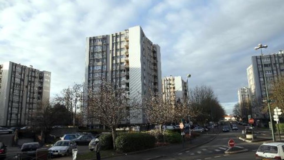 Un quartier de la ville de Sevran, en région parisienne, en janvier 2014