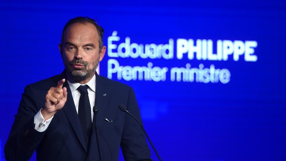 Le Premier ministre Edouard Philippe à l'université d'été du MoDem, le 29 septembre 2019 à Guidel, dans le Morbihan