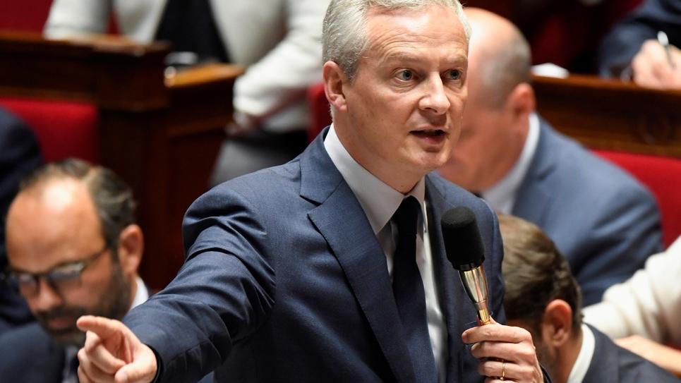 Le ministre de l'Economie Bruno Le Maire lors de la séance des questions au gouvernement à l'Assemblée nationale, le 24 octobre 2018