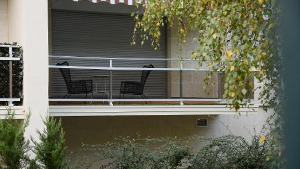 Vue extérieure de l'appartement de fonction de Thierry Lepaon le 29 octobre 2014 à Vincennes
