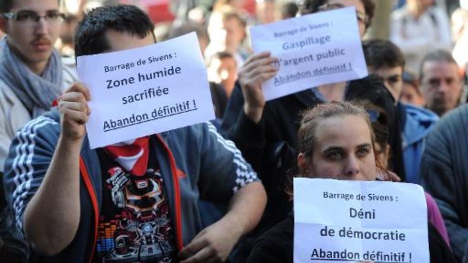 Manifestation le 31 octobre 2014 à Albi après la mort de Rémi Fraisse sur le site de Sivens