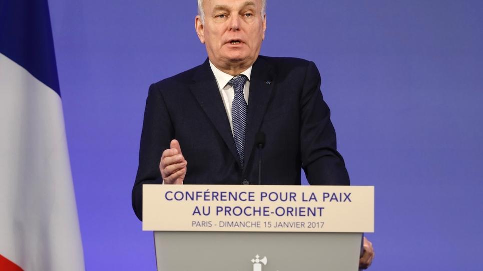 Le chef de la diplomatie française Jean-Marc Ayrault à Paris le 15 janvier 2017