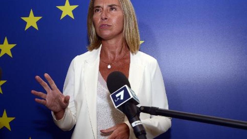 La ministre italienne des Affaires étrangères et candidate des dirigeants sociaux-démocrates européens au poste de chef de la diplomatie européenne, le 29 août 2014 à Milan