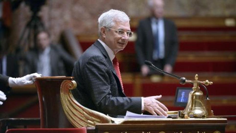 Le président de l'Assemblée nationale Claude Bartolone à son poste à Paris le 10 juin 2014