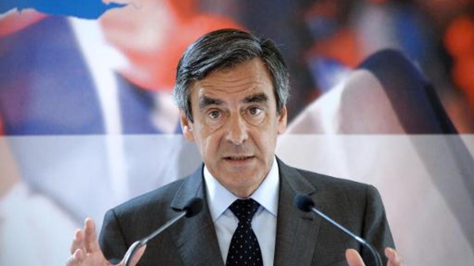 François Fillon, ancien Premier ministre et membre du triumvirat qui gère provisoirement l'UMP, lors d'une conférence de presse sur la compétitivité, le 25 juin 2014 à Paris