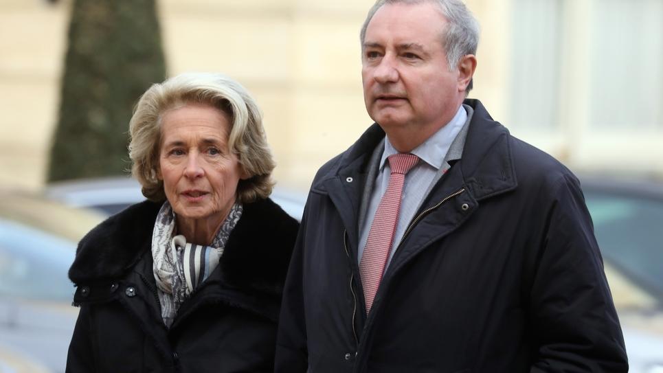 Le maire de Toulouse Jean-Luc Moudenc le 10 décembre 2018 à Paris, en compagnie de Caroline Cayieux, présidente de la Fédération des villes de France