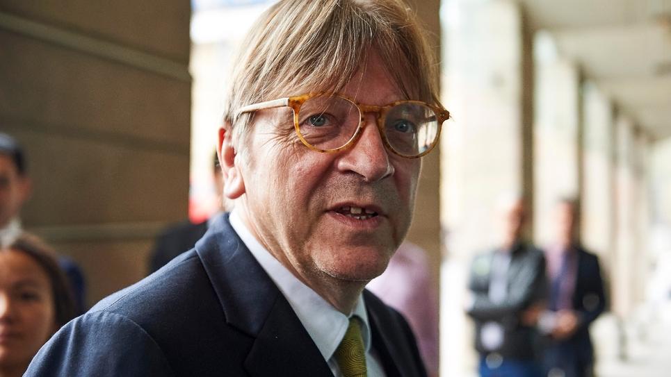 L'ancien Premier ministre belge Guy Verhofstadt, chef de file des libéraux et centristes au Parlement européen (ADLE), le 20 juin 2018 à Londres