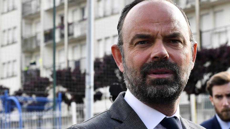 Le Premier ministre français Edouard Philippe à Aubeterre-sur-Dronne, le 3 mai 2019