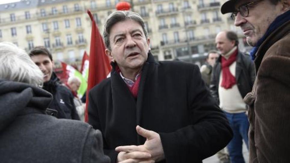 Jean-Luc Mélenchon, ancien coprésident du Parti de gauche, le 15 février 2015 à Paris