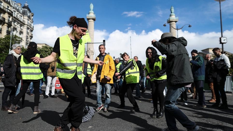 """Des """"giltes jaunes"""" à Paris le 4 mai 2019"""