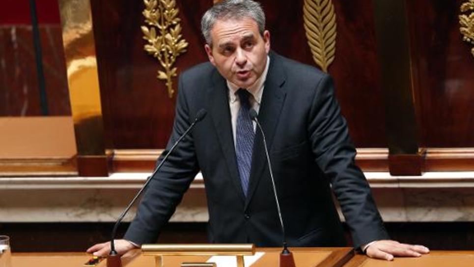 Le député Xavier Bertrand, candidat à la primaire UMP en vue de 2017, le 17 juillet 2014 à l'Assemblée nationale à Paris