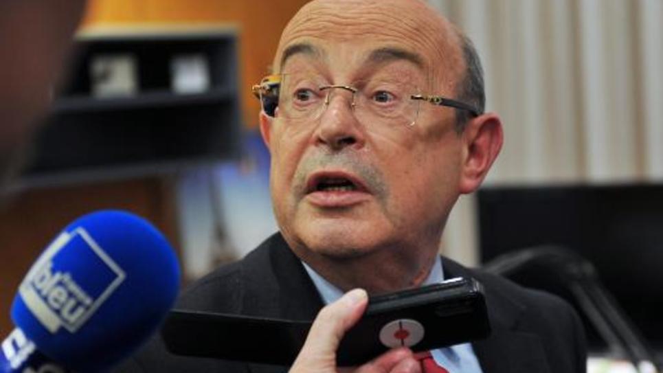 Le sénateur etancien maire PS de Tours, M. Jean Germain, le 30 mars 2014 à Tours