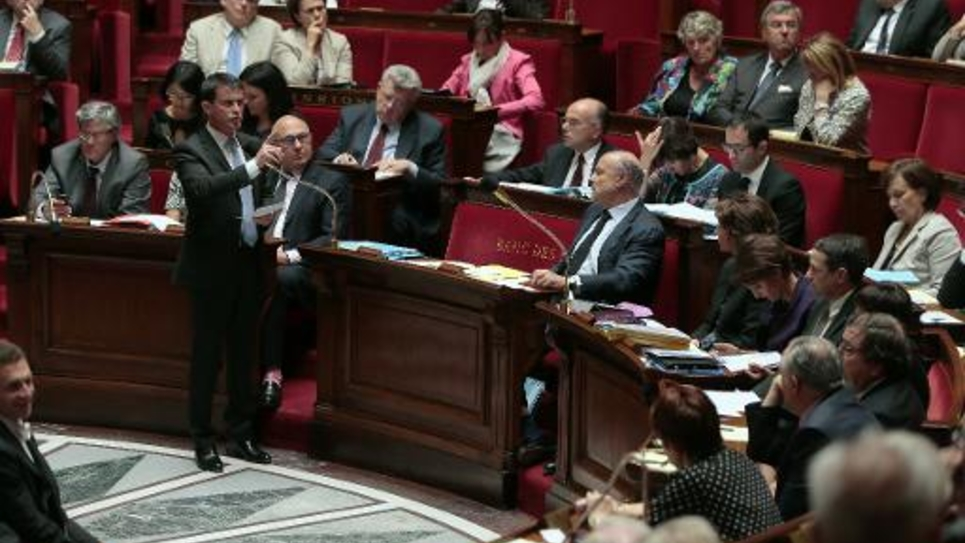 Le Premier ministre Manuel Valls à l'Assemblée Nationale, le 9 juillet 2014