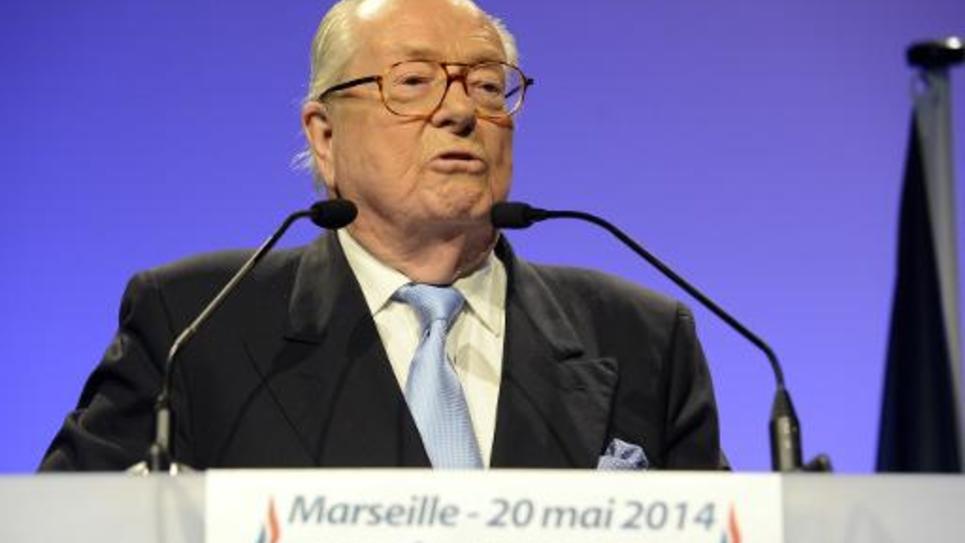 Jean-Marie Le Pen à Marseille le 20 mai 2014