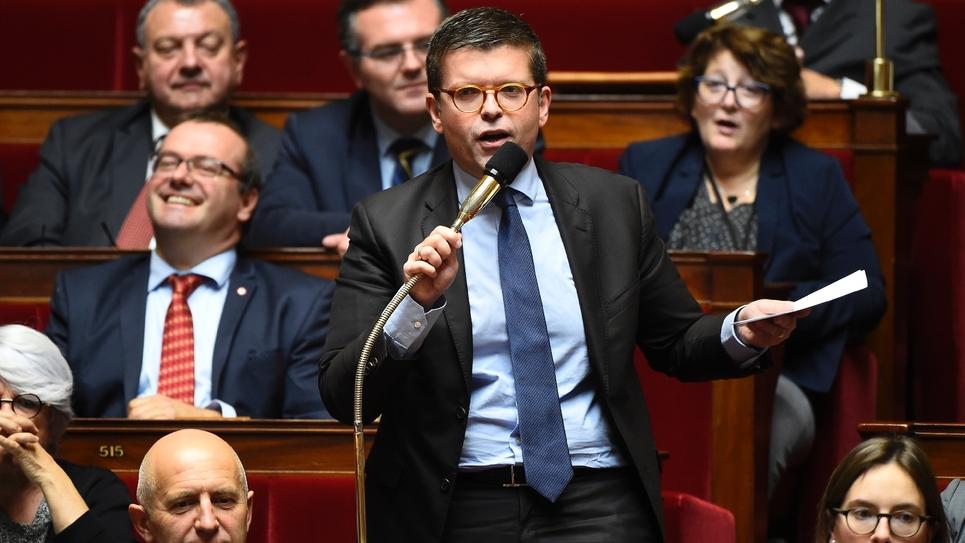 Le député socialiste Luc Carvounas le 10 octobre 2017 à l'Assemblée nationale à Paris