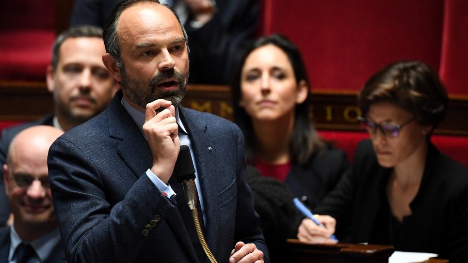 Le Premier ministre Edouard Philippe à l'Assemblée nationale, le 2 avril 2019 à Paris