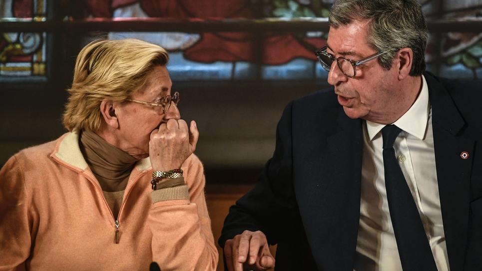 Le couple Patrick et Isabelle Balkany, à Levallois-Perret, le 15 avril 2019