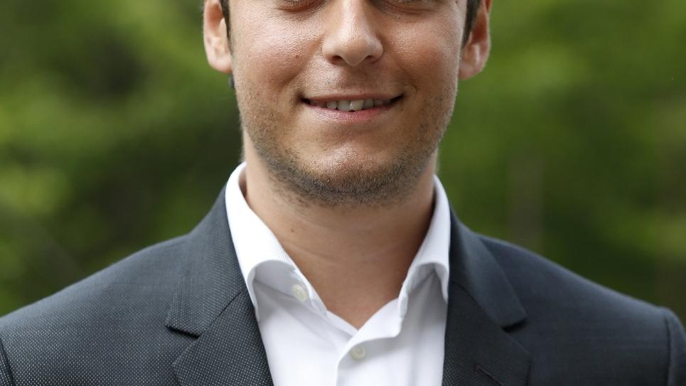 Gabriel Attal, élu député de La République en Marche, le 13 mai 2017 à Paris