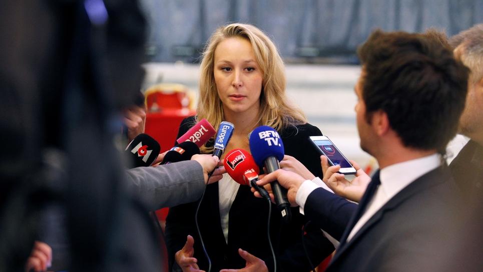 Marion Maréchal-Le Pen, députée FN du Vaucluse, le 29 avril 2017 à Paris