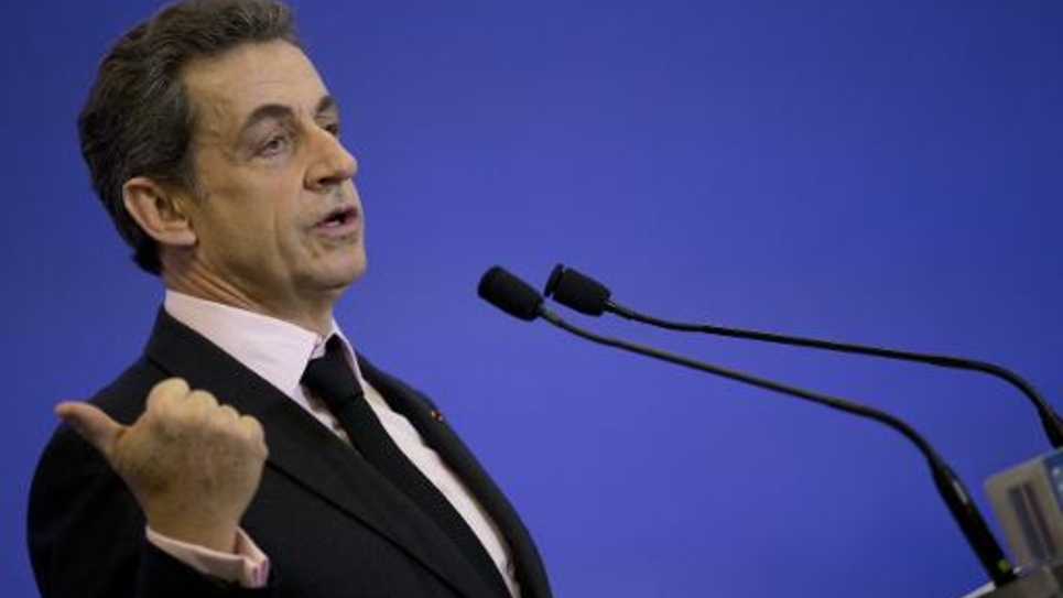 Nicolas Sarkozy le 8 avril 2015 à Paris